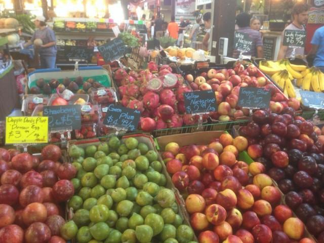 フリーマントルマーケットのフルーツ