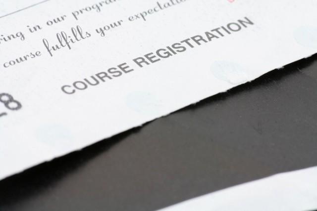 大学の科目登録