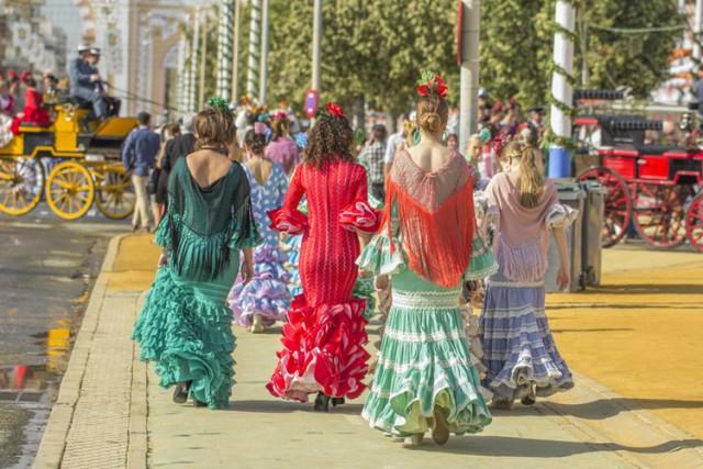 スペイン フラメンコの衣装