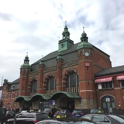ドイツのリューベック中央駅