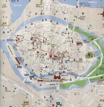 リューベックの地図