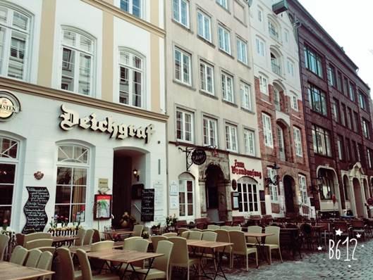 ドイツ ハンブルクのダイヒ通り