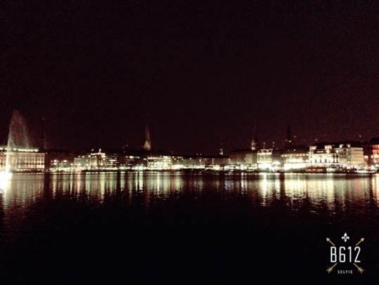 ドイツ ハンブルクの夜景