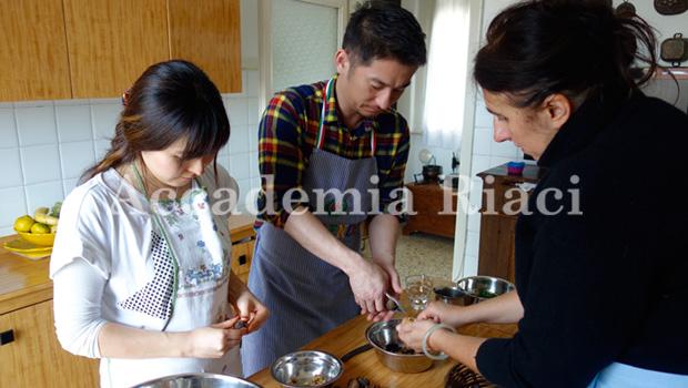 イタリア料理留学の様子
