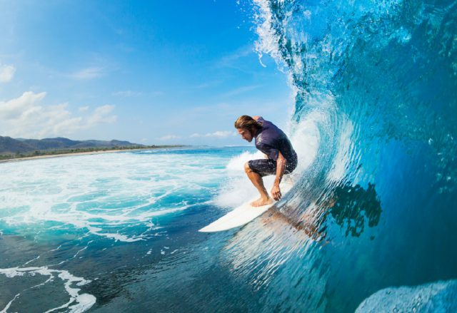 オーストラリアでサーフィン