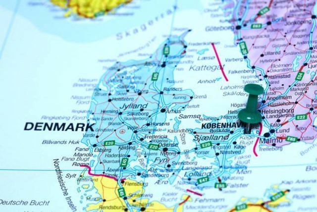 デンマークの地図