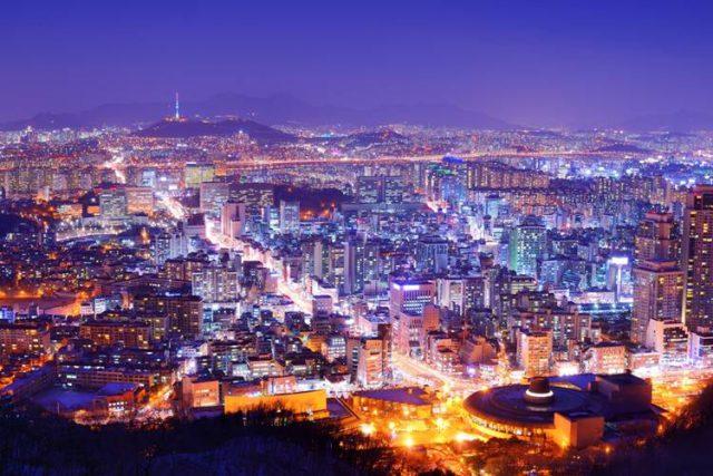 韓国の夜景