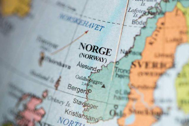 ノルウェーの地図