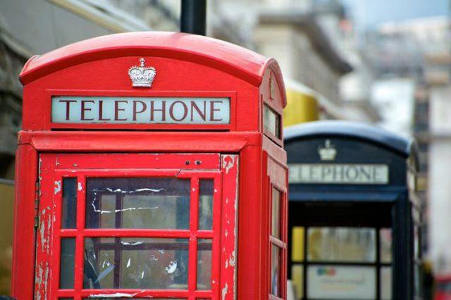 イギリスの公衆電話