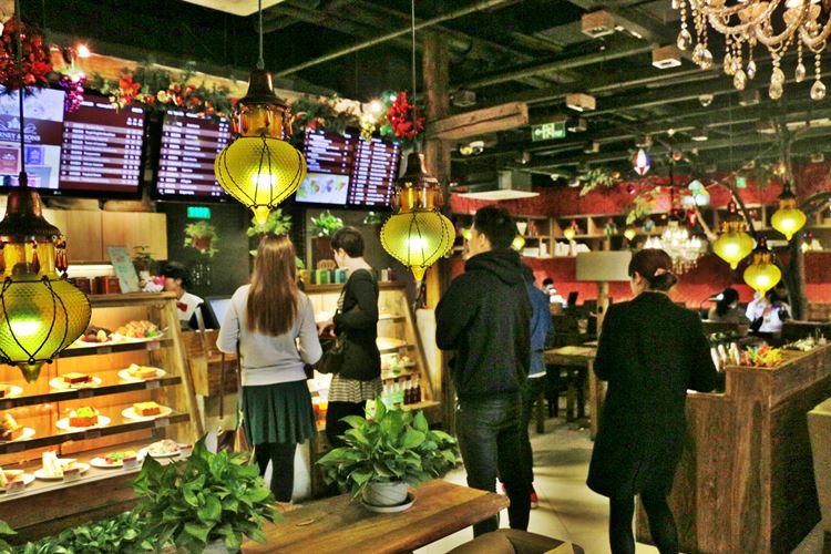 北京語言大学の食堂