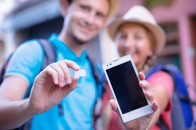 留学中の携帯