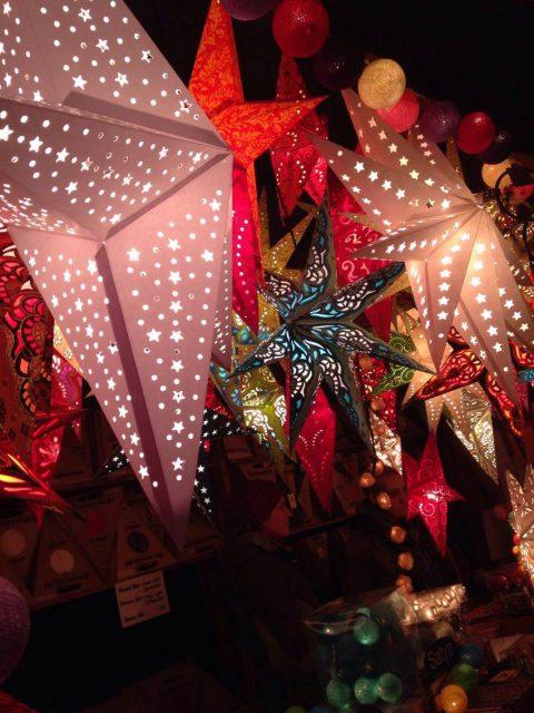ドイツのクリスマスのランプシェード
