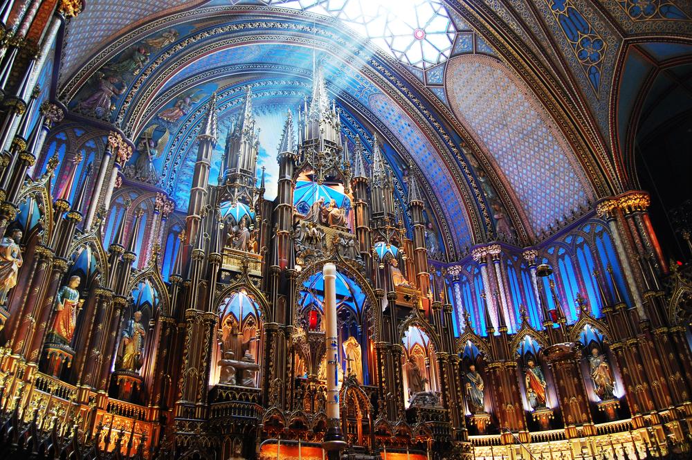 カナダ モントリオール・ノートルダム大聖堂
