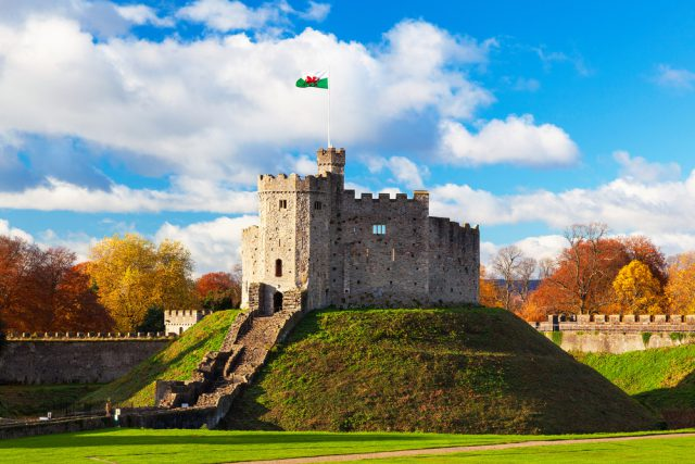 イギリスのカーディフ城