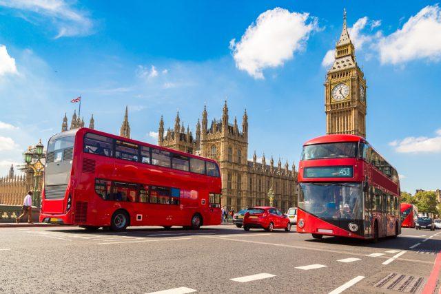 イギリスのロンドンバス
