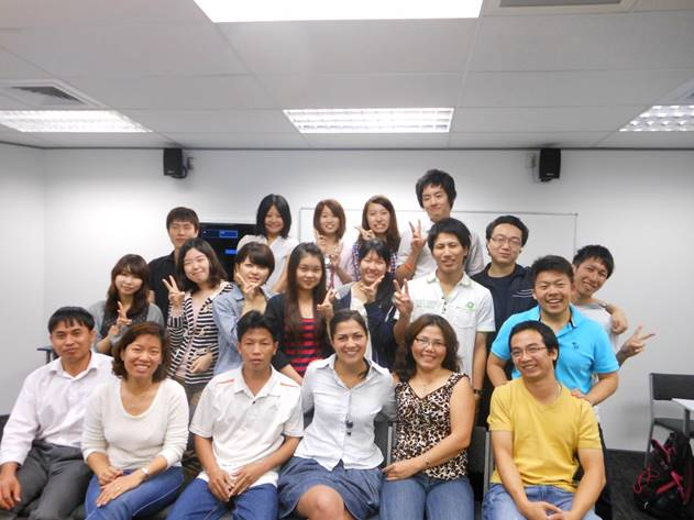 ニュージーランド オークランド留学生集合写真