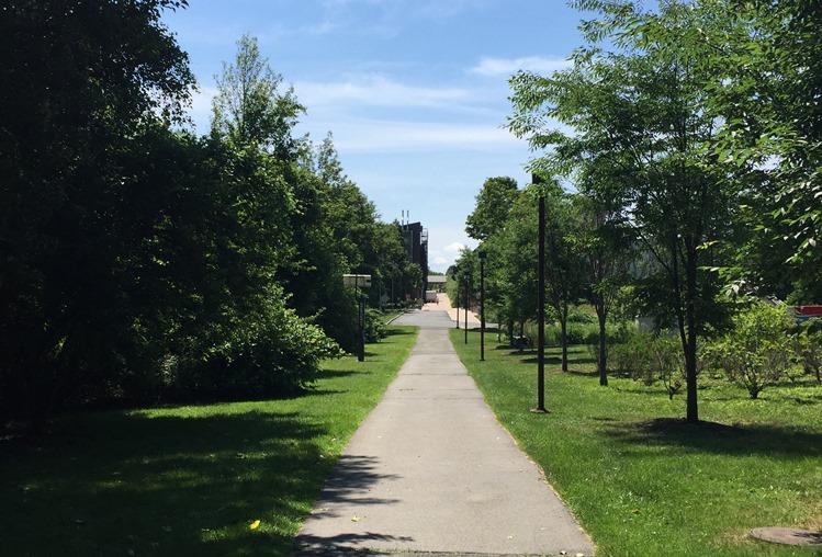 ニューヨーク留学中の通学路