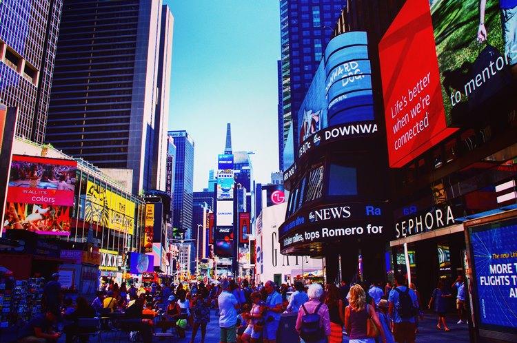 ニューヨークのタイムズスクウェア