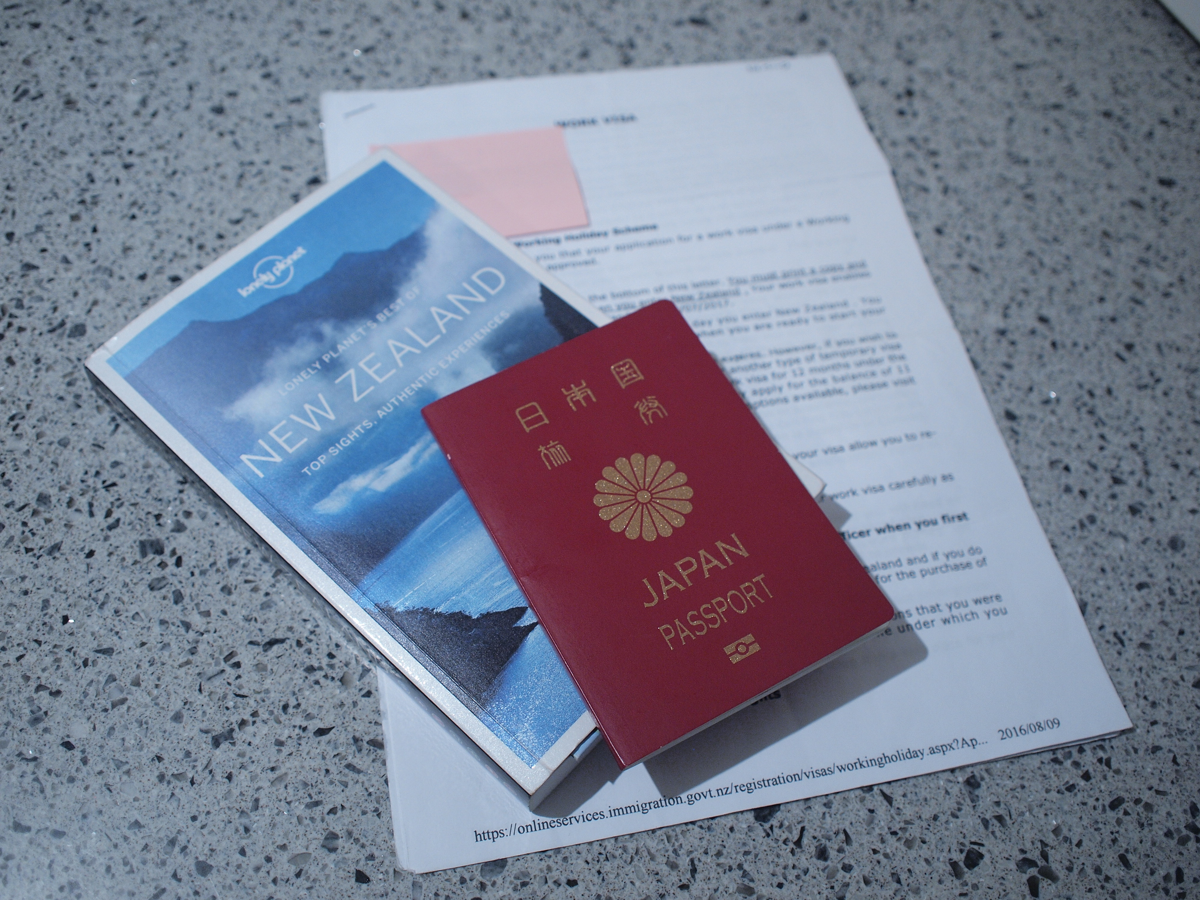 ニュージーランド ワーキングホリデービザ申請