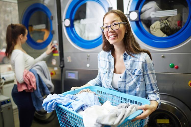 留学中の洗濯