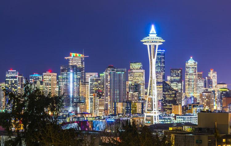 アメリカ シアトルのスペースニードル
