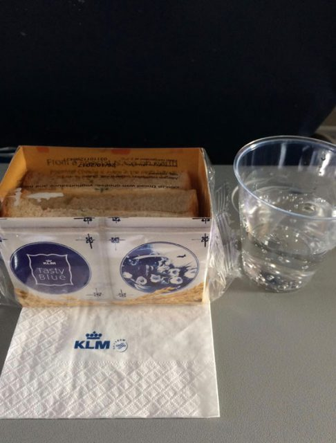 KLMオランダ航空の機内食