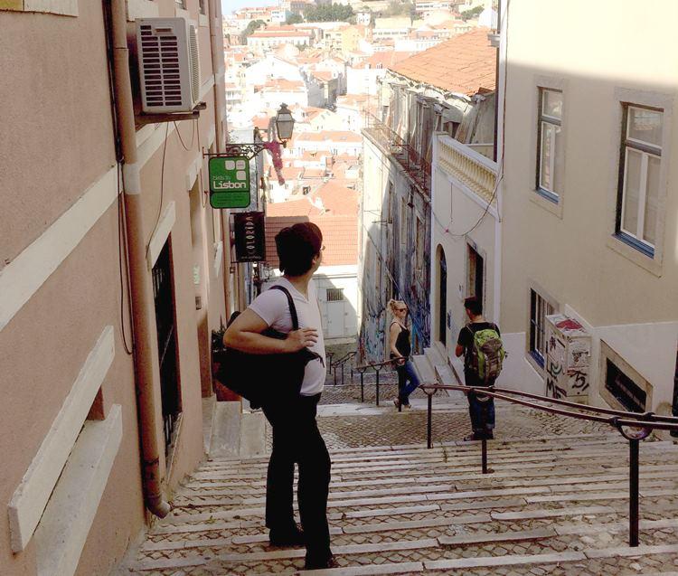 ポルトガルの坂道
