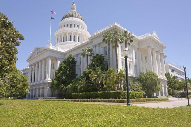 アメリカ サクラメントにあるカリフォルニア州会議事堂