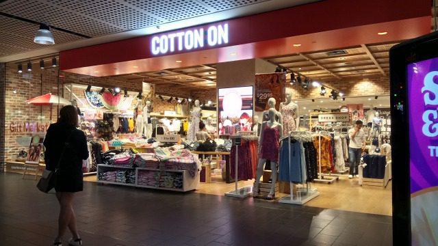 メルボルンでショッピング cotton on
