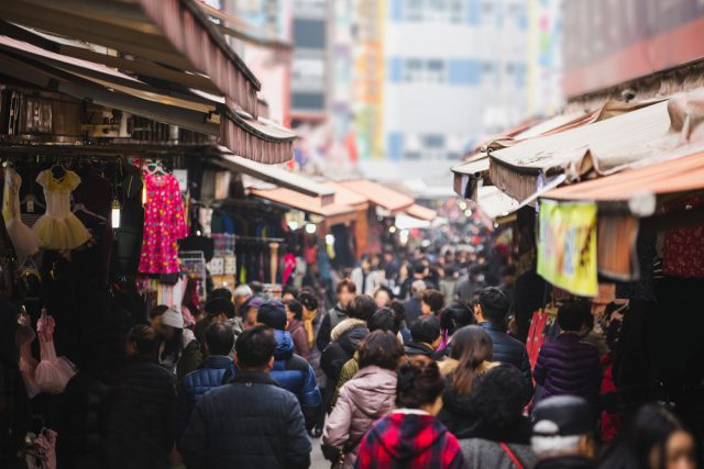 ソウルの市場