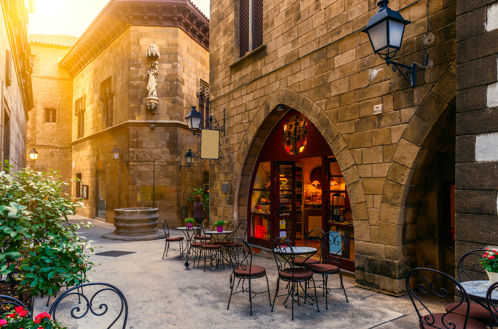 スペイン バルセロナのカフェ