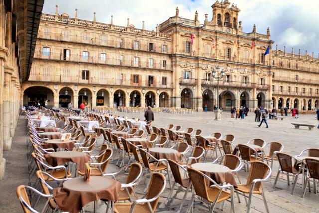 スペイン サラマンカのマヨール広場