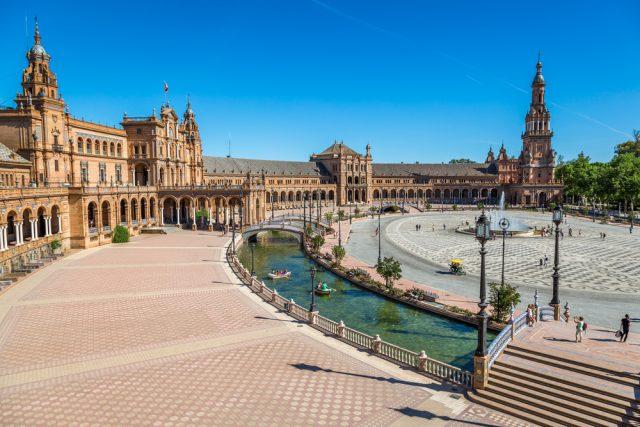 スペイン セビリア(セビーリャ)のスペイン広場