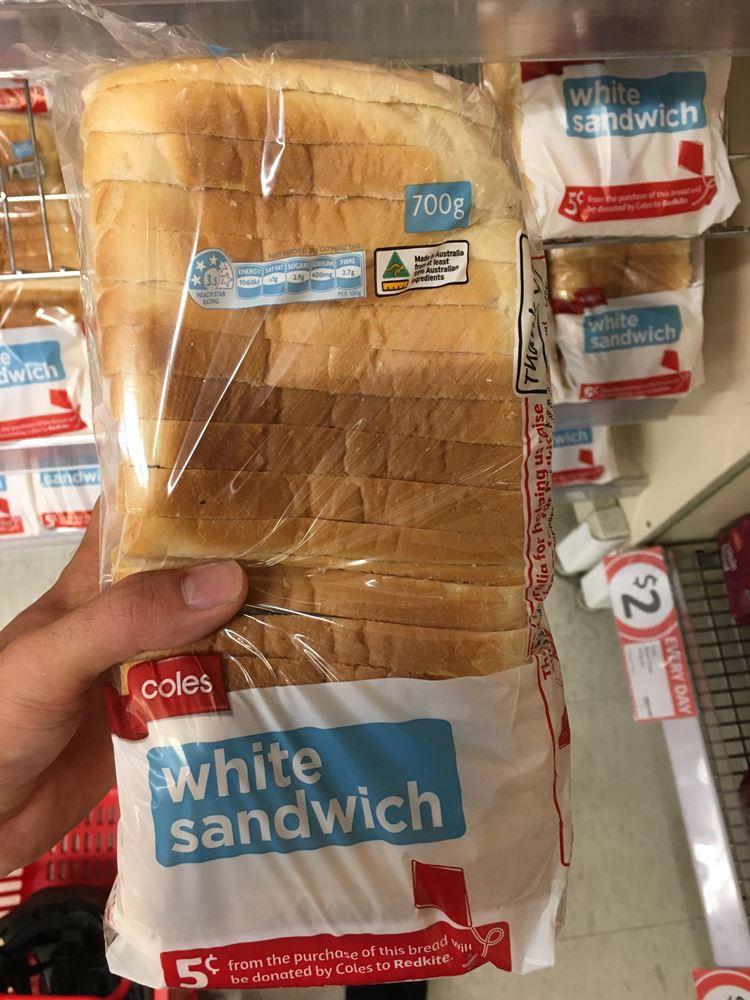 オーストラリアの食パン