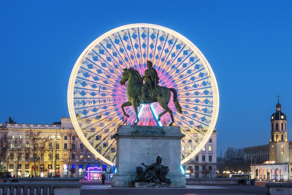 フランス リヨンのベルクール広場