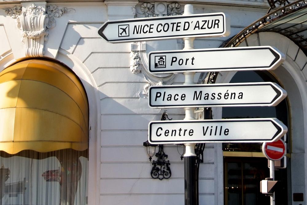 フランス ニースの標識
