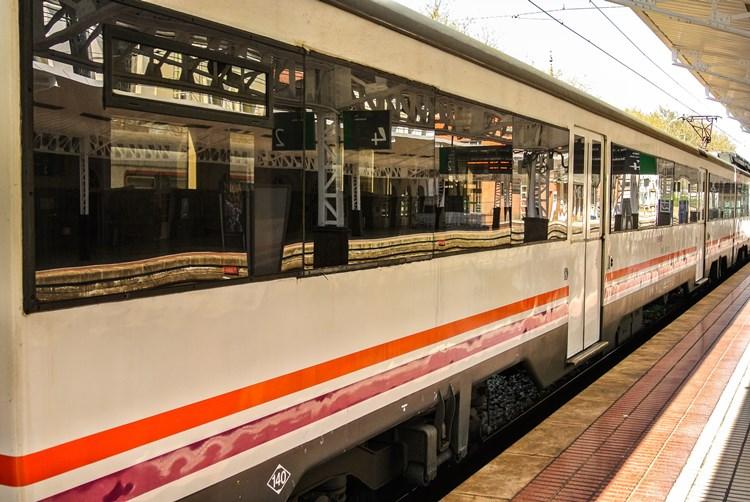 スペインの電車