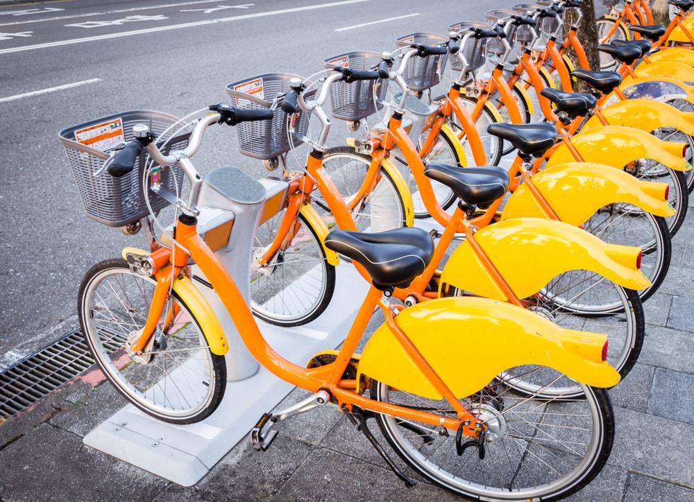 台湾のレンタル自転車