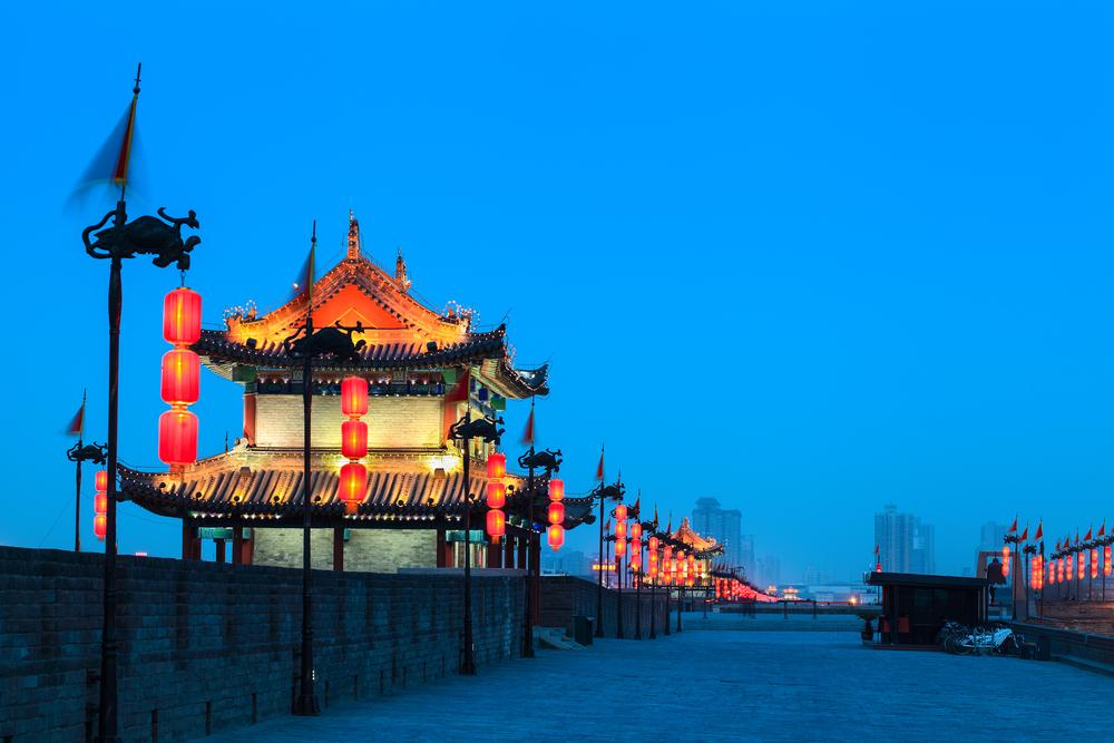 中国 西安の西安古城壁