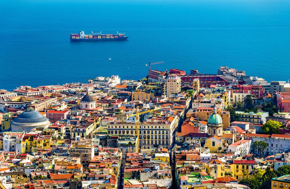 イタリアのナポリ歴史地区