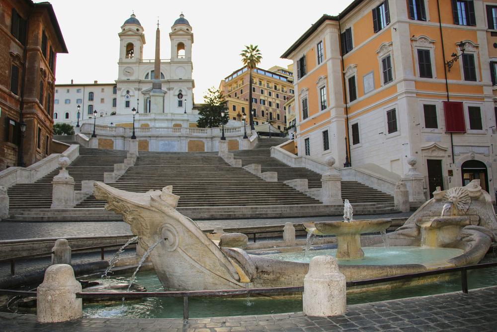 イタリア ローマのスペイン広場