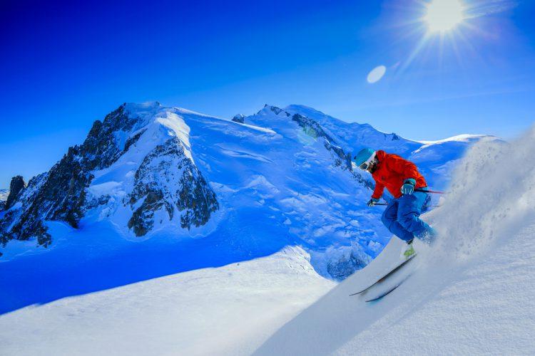フランス シャモニーのアクティビティ スキー