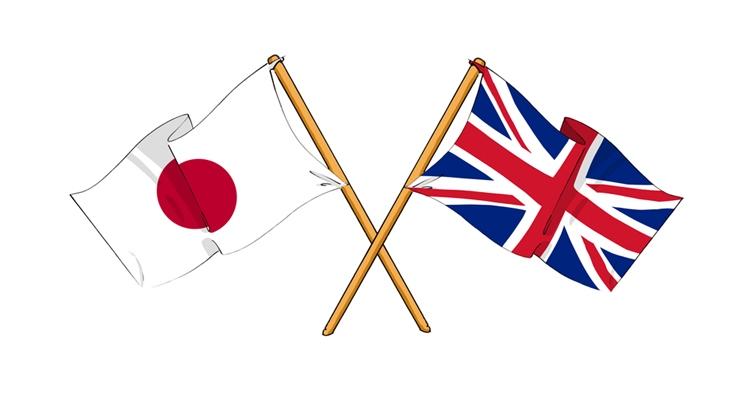 日本とイギリスの国旗
