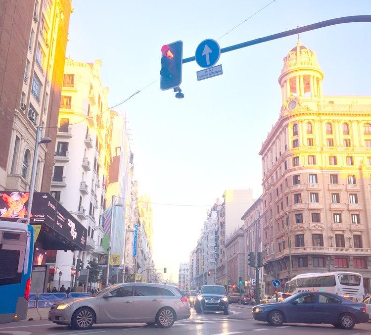 マドリードの街並み