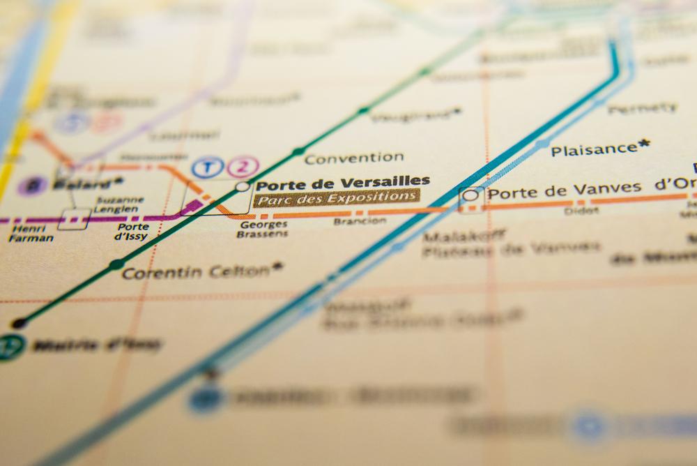 フランス ヴェルサイユ宮殿への地図
