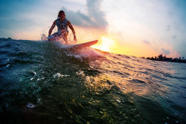 夕焼けサーフィン