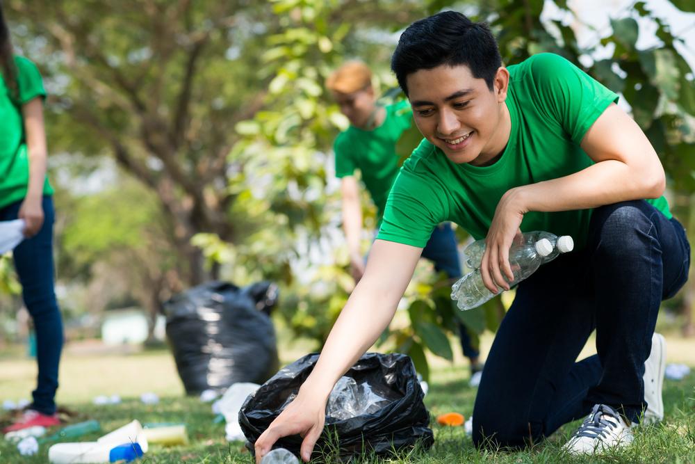 公園でのボランティア留学