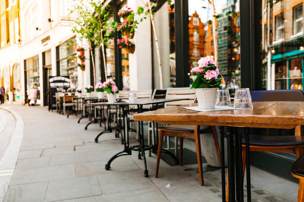 イギリス ロンドンのカフェ