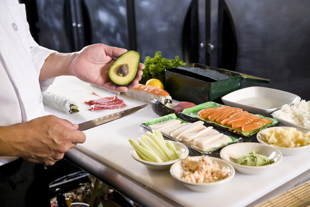 寿司屋での仕事