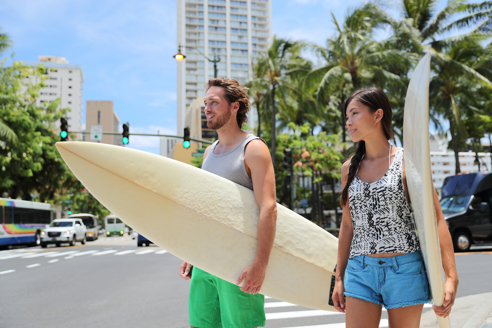 ハワイでスポーツ